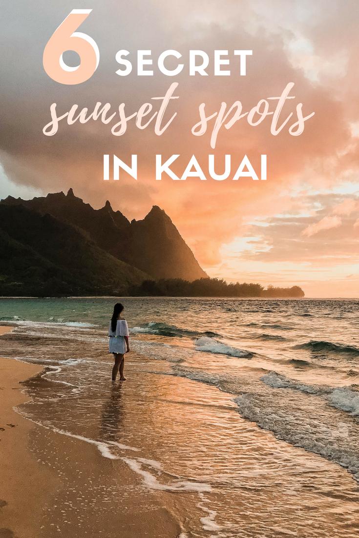 6 Secret sunset spots in Kauai Hawaii