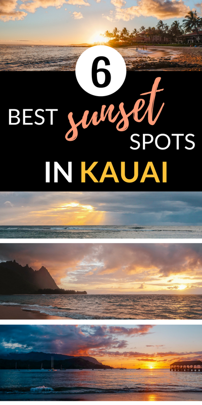 Best sunset spots in Kauai Hawaii - Kauai Sunsets - Kauai Sunset - Hawaii sunsets