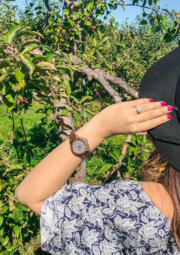 A Fall Day at the Apple Orchard with JORD Watches
