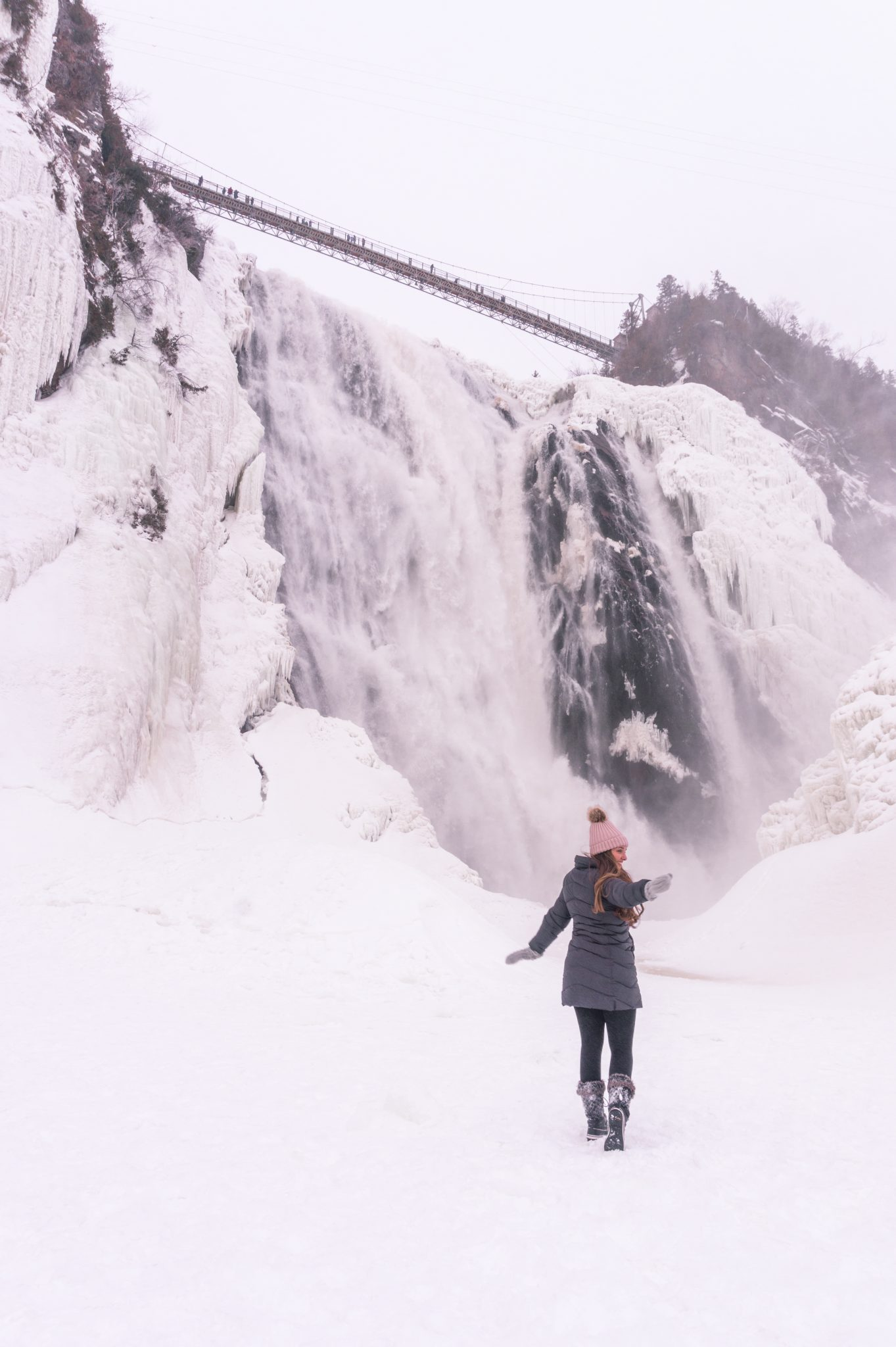 7 Things to Do in Quebec City in Winter - Hike Monmotrency Falls