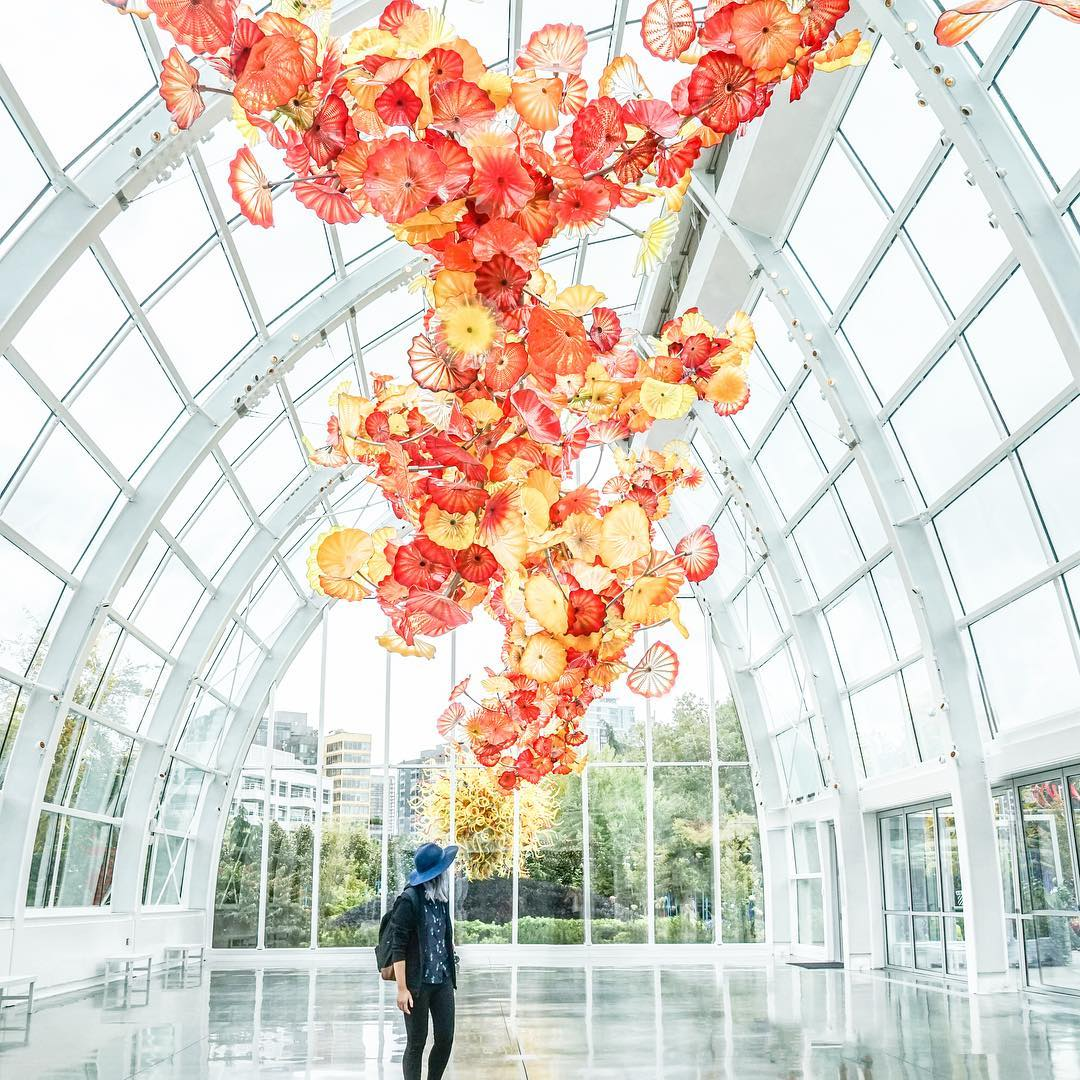 Chihuly Garden and Glass Most Instagramable US Cities