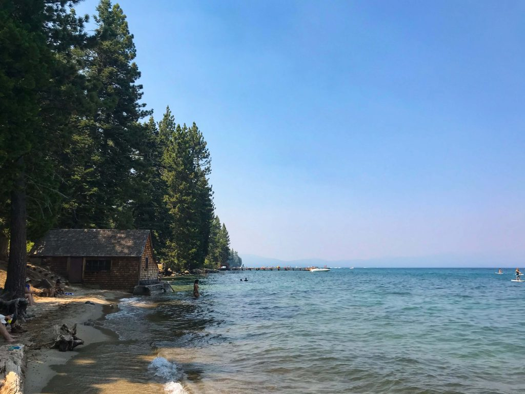 The beach at Lake Tahoe, one of the national parks to feature on everyone's USA outdoor bucket list