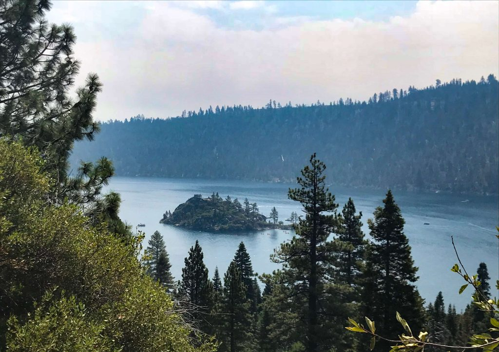 The view over Lake Tahoe, one of the national parks to feature on everyone's USA outdoor bucket list