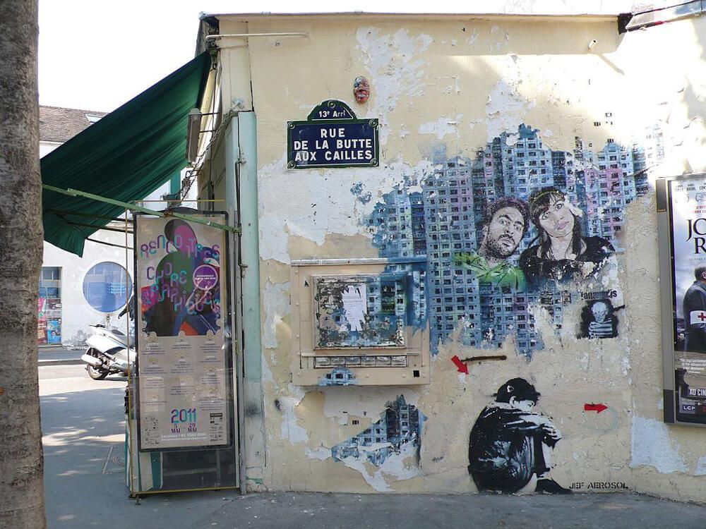Rue De La Butte aux Cailles, a quaint Paris neighborhood