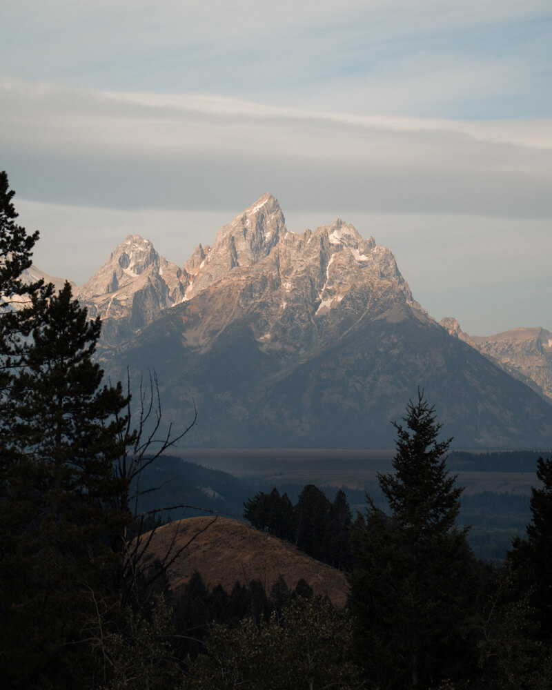 The mountains in Grand Teton National Park