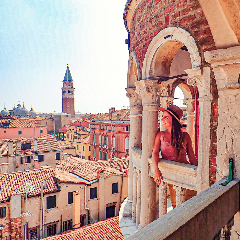 The view from La Scala del Bovolo, a Venice hidden gem