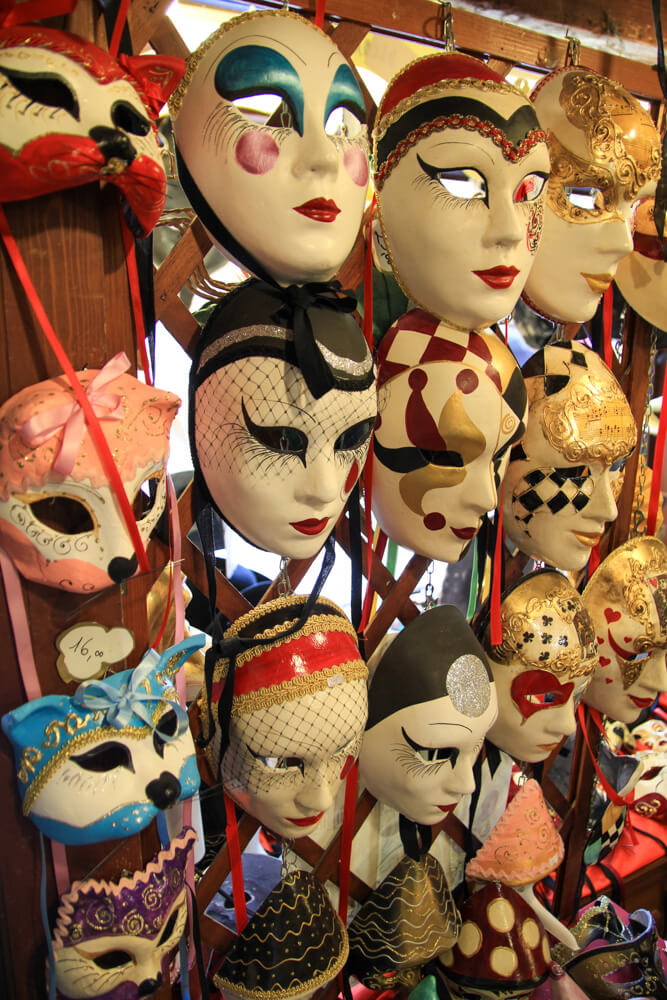 Painted masks in Venice