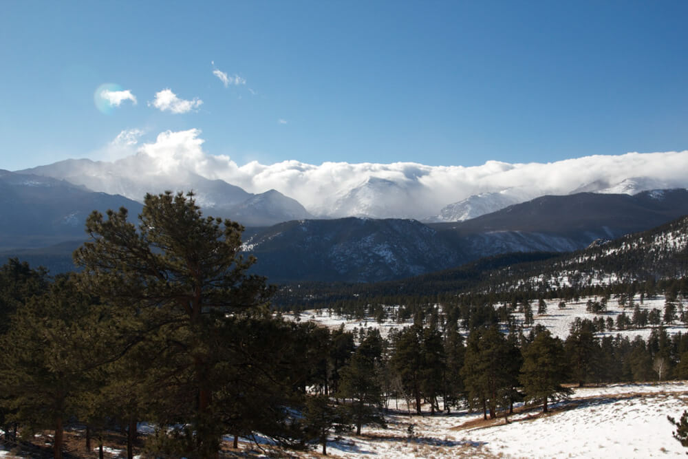 Rocky Mountain National Park USA in winter
