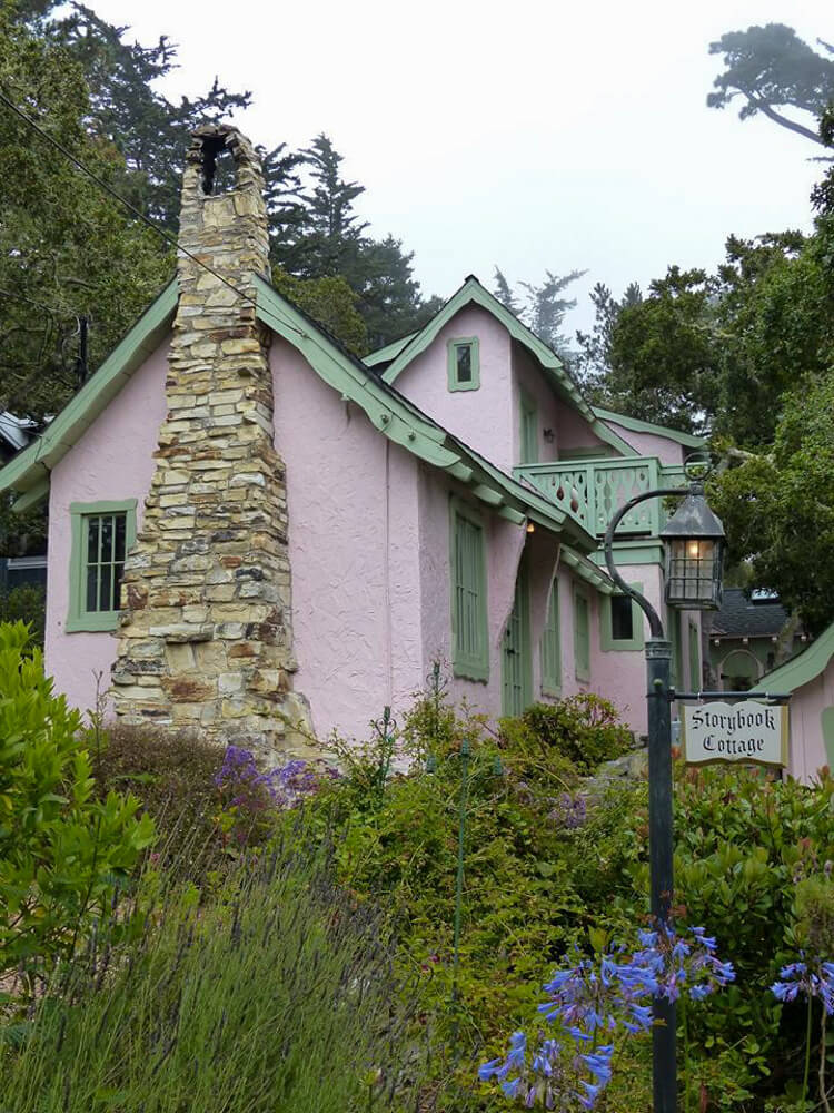 Cute cottage in the charming US town of Carmel-by-the Sea in California