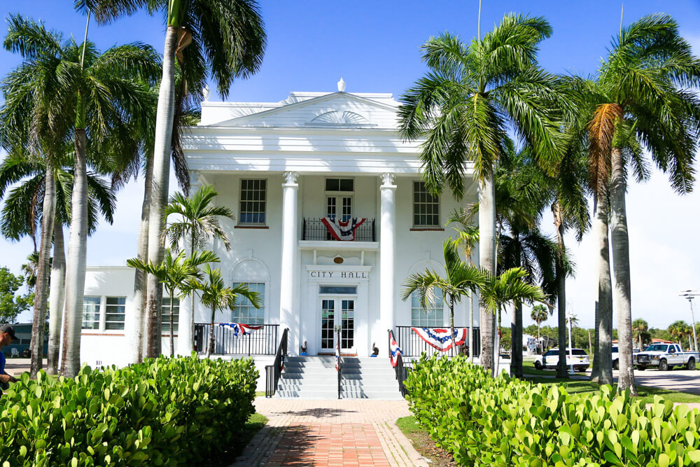 City Hall in Everglades City, a small, beautiful town in Florida