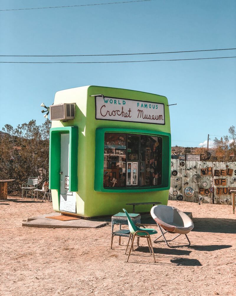 Quirky crochet museum in the charming US town of Joshua Tree in California