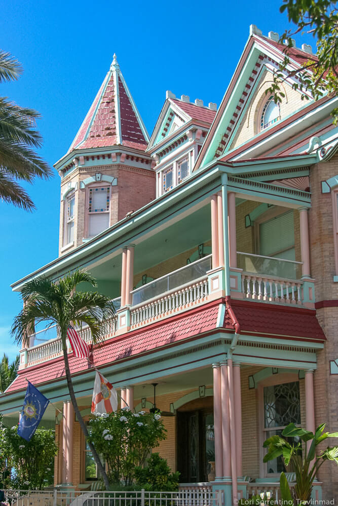Bahamian style conch houses in the beautiful small town of Key West in Florida