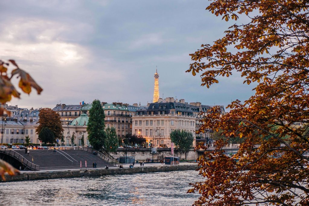 Seine and Eiffel Tower in Fall