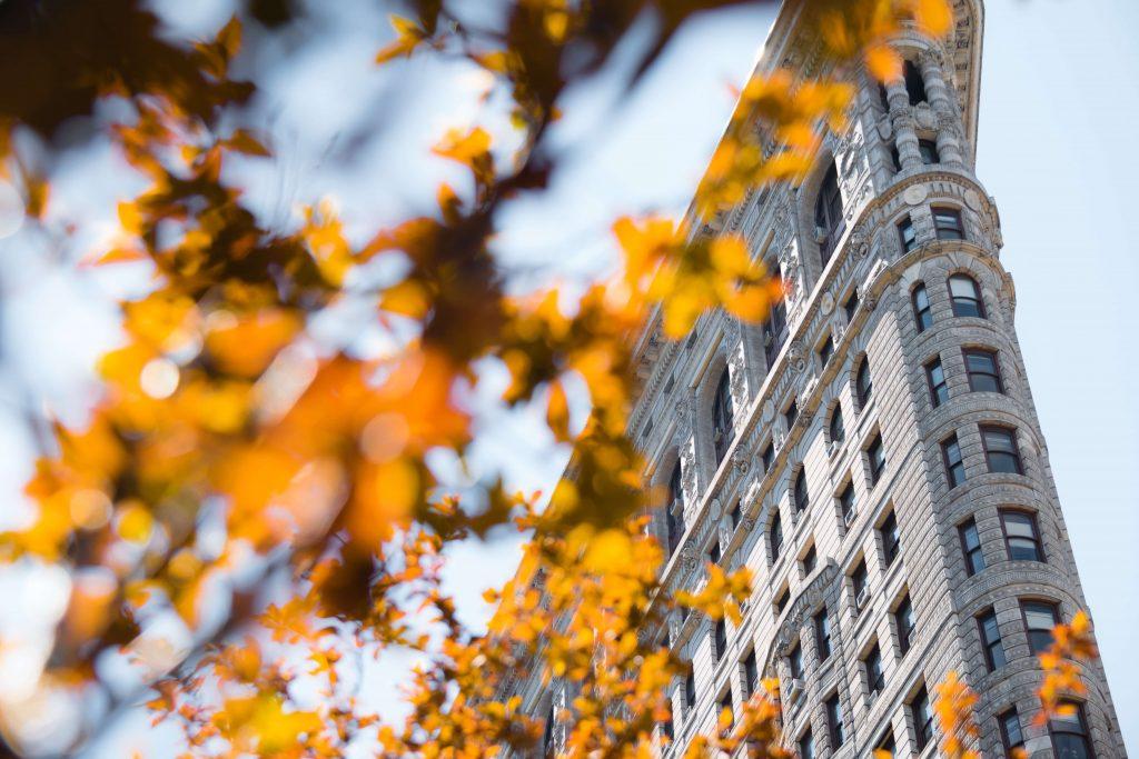 Flatiron Building in Fall