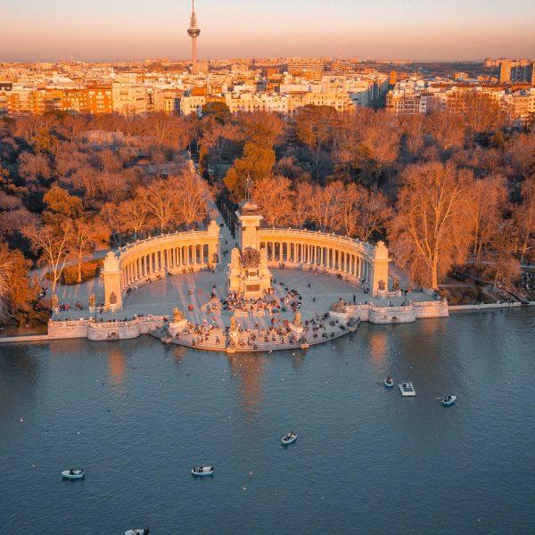 Madrid Spain in Fall